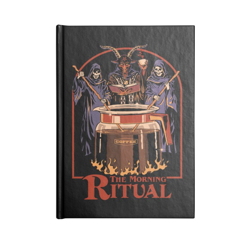 The Morning Ritual Accessories Lined Journal Notebook by Steven Rhodes