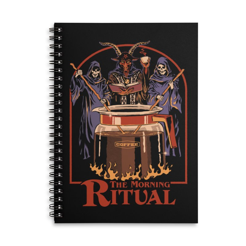 The Morning Ritual Accessories Lined Spiral Notebook by Steven Rhodes