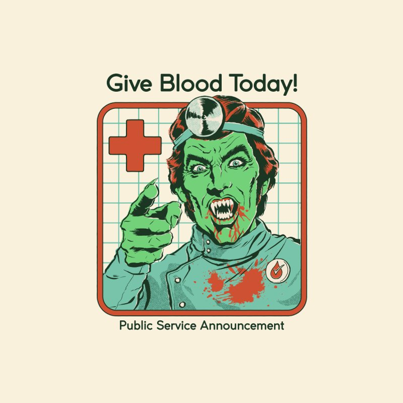 Give Blood today! Men's T-Shirt by Steven Rhodes