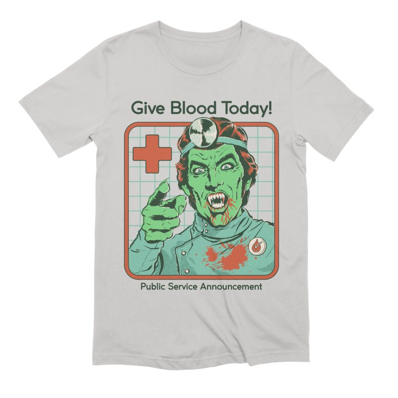 Give Blood today! Men's Extra Soft T-Shirt by Steven Rhodes