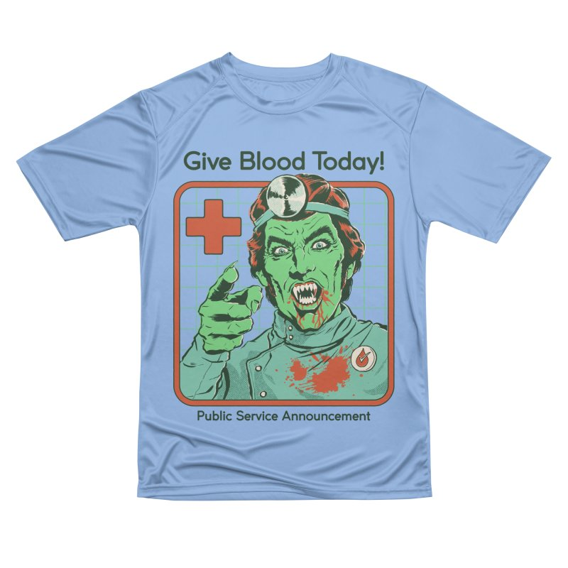 Give Blood today! Men's Performance T-Shirt by Steven Rhodes