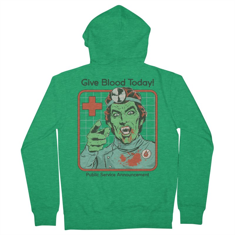 Give Blood today! Men's French Terry Zip-Up Hoody by Steven Rhodes