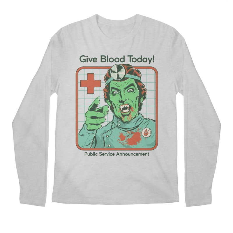 Give Blood today! Men's Regular Longsleeve T-Shirt by Steven Rhodes