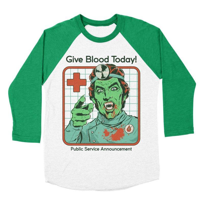 Give Blood today! Women's Baseball Triblend Longsleeve T-Shirt by Steven Rhodes