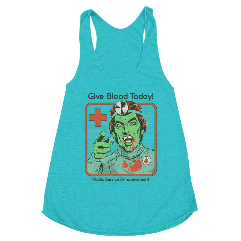 Give Blood today! Women's Racerback Triblend Tank by Steven Rhodes