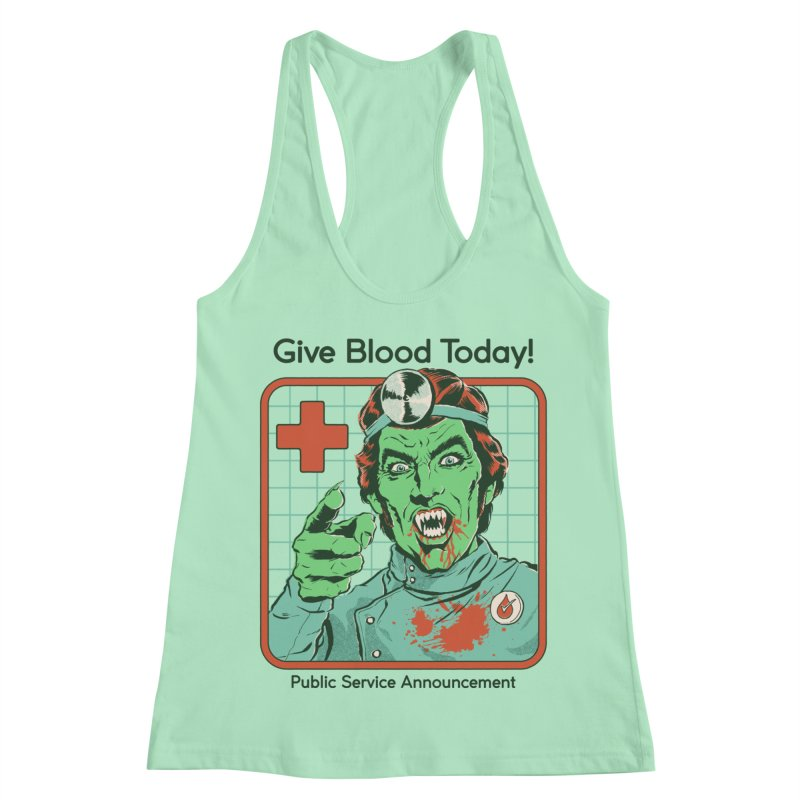 Give Blood today! Women's Racerback Tank by Steven Rhodes