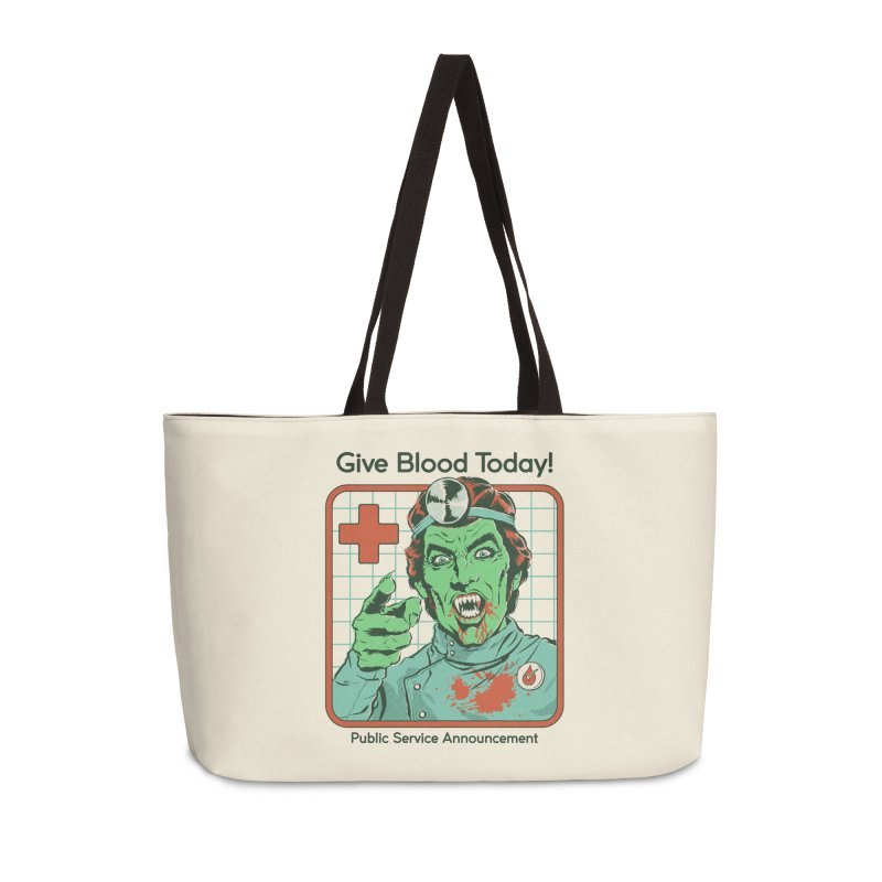 Give Blood today! Accessories Weekender Bag Bag by Steven Rhodes