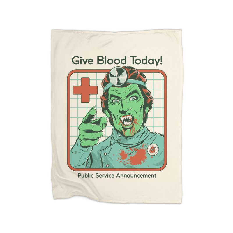 Give Blood today! Home Fleece Blanket Blanket by Steven Rhodes