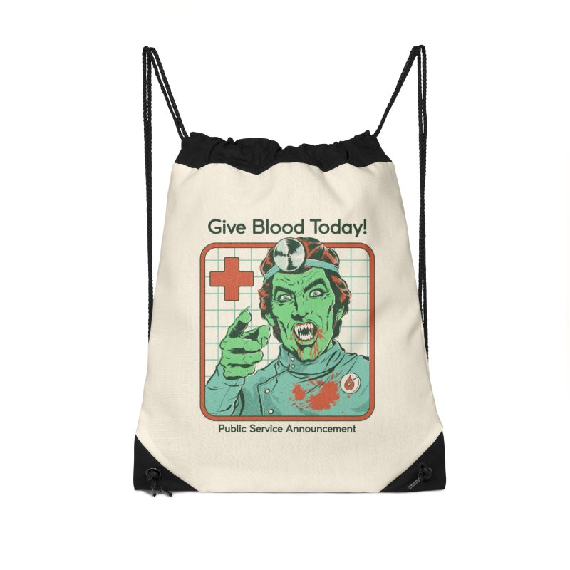 Give Blood today! Accessories Drawstring Bag Bag by Steven Rhodes