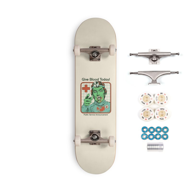 Give Blood today! Accessories Complete - Premium Skateboard by Steven Rhodes