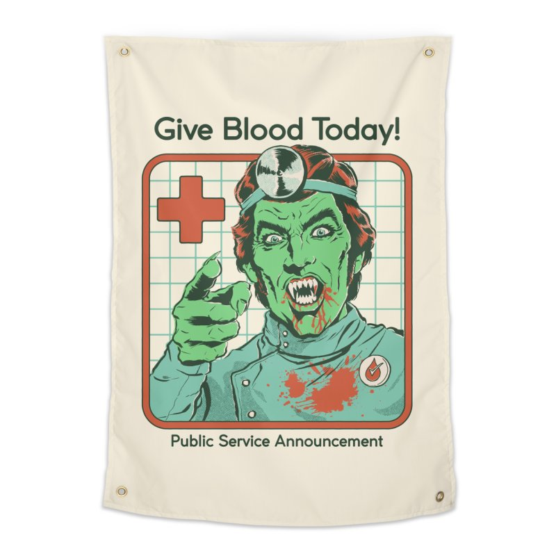 Give Blood today! Home Tapestry by Steven Rhodes