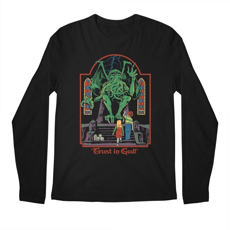 Trust in God Men's Regular Longsleeve T-Shirt by Steven Rhodes