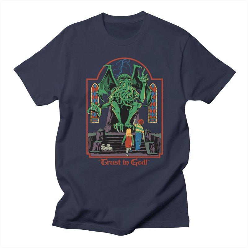 Trust in God Men's Regular T-Shirt by Steven Rhodes