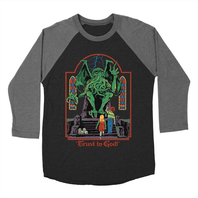 Trust in God Women's Baseball Triblend Longsleeve T-Shirt by Steven Rhodes