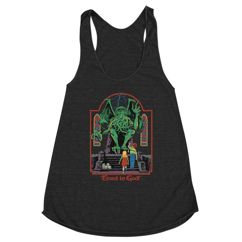Trust in God Women's Racerback Triblend Tank by Steven Rhodes
