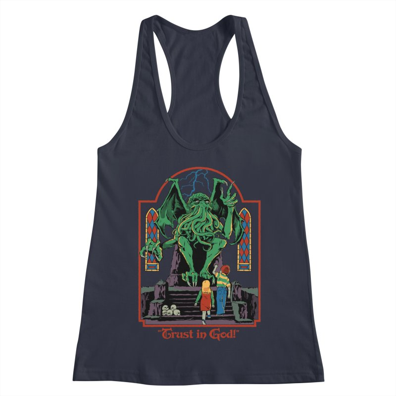 Trust in God Women's Racerback Tank by Steven Rhodes