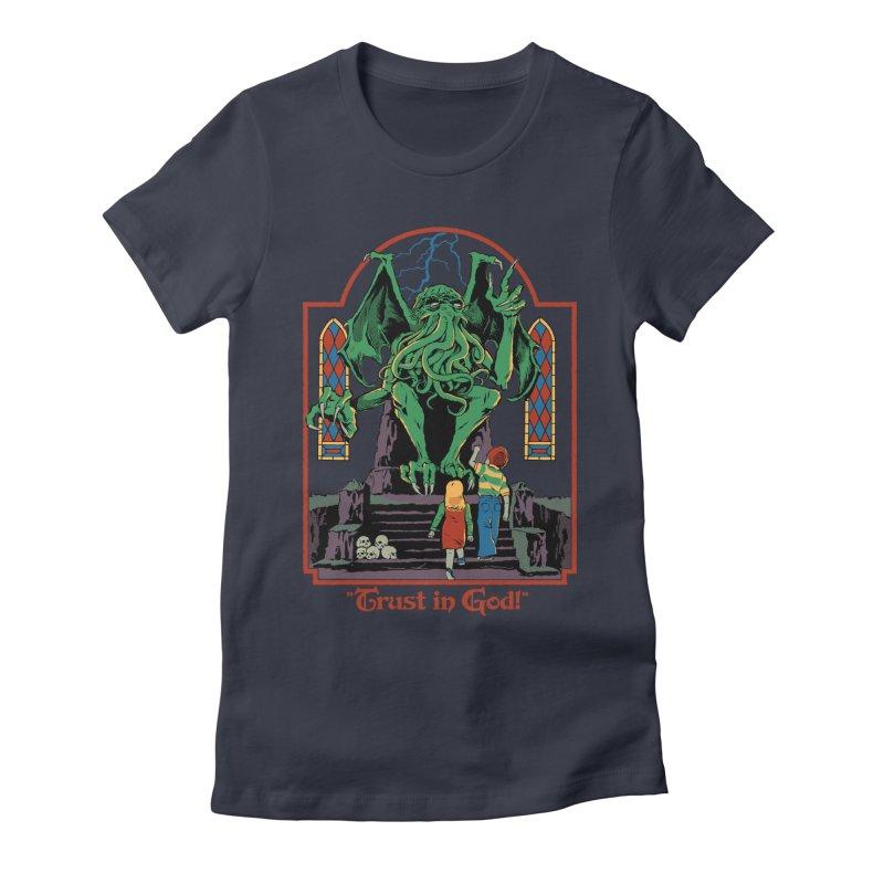 Trust in God Women's Fitted T-Shirt by Steven Rhodes