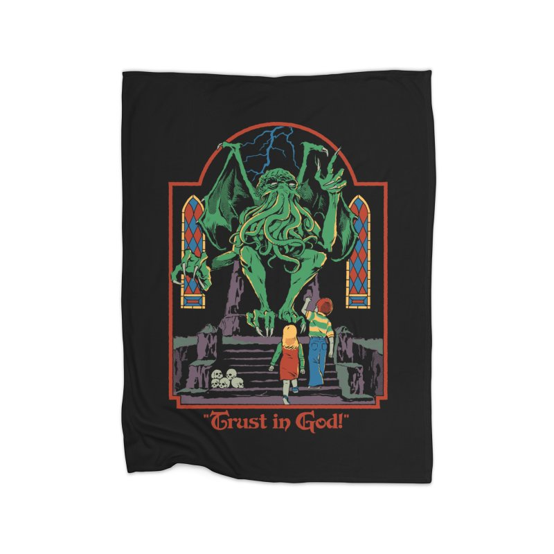 Trust in God Home Fleece Blanket Blanket by Steven Rhodes