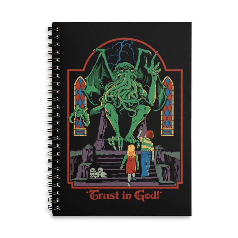 Trust in God Accessories Lined Spiral Notebook by Steven Rhodes