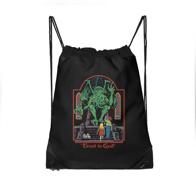 Trust in God Accessories Drawstring Bag Bag by Steven Rhodes