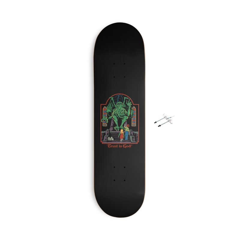 Trust in God Accessories With Hanging Hardware Skateboard by Steven Rhodes