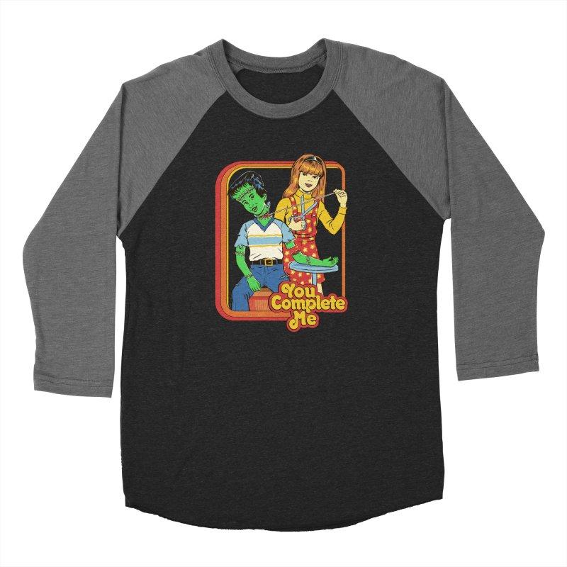 You Complete Me Women's Baseball Triblend Longsleeve T-Shirt by Steven Rhodes
