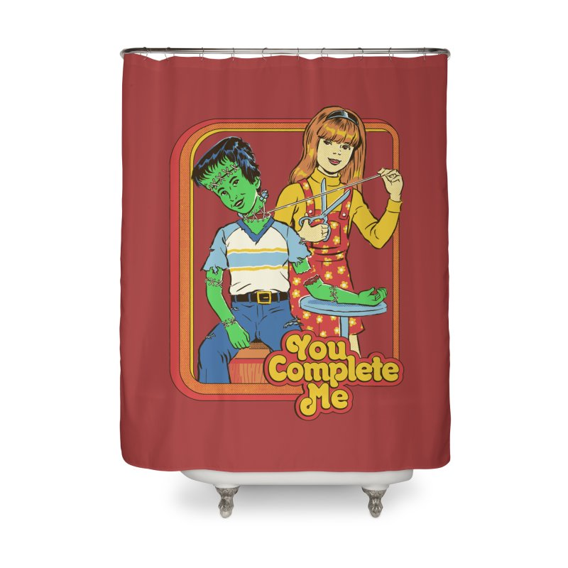 You Complete Me Home Shower Curtain by Steven Rhodes