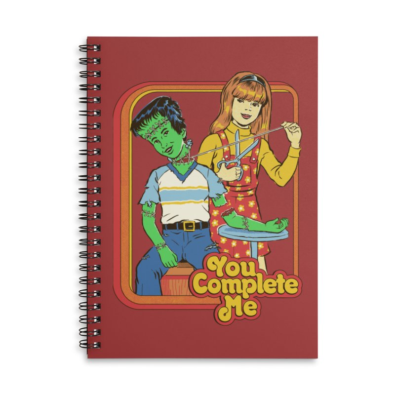 You Complete Me Accessories Lined Spiral Notebook by Steven Rhodes