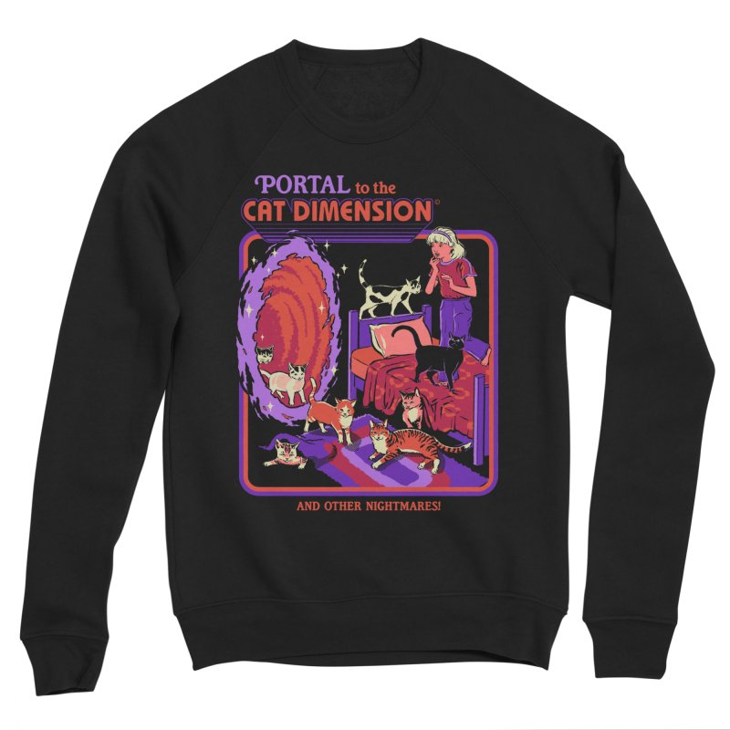The Cat Dimension Men's Sponge Fleece Sweatshirt by Steven Rhodes
