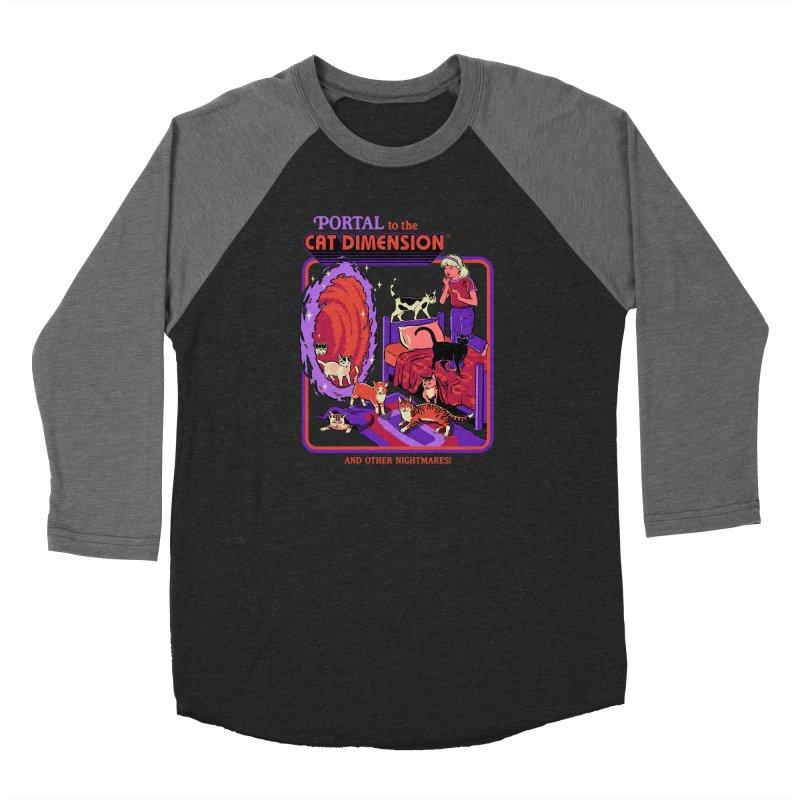 The Cat Dimension Women's Baseball Triblend Longsleeve T-Shirt by Steven Rhodes