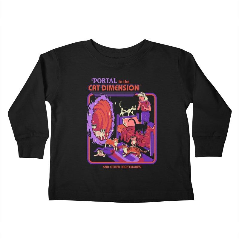 The Cat Dimension Kids Toddler Longsleeve T-Shirt by Steven Rhodes
