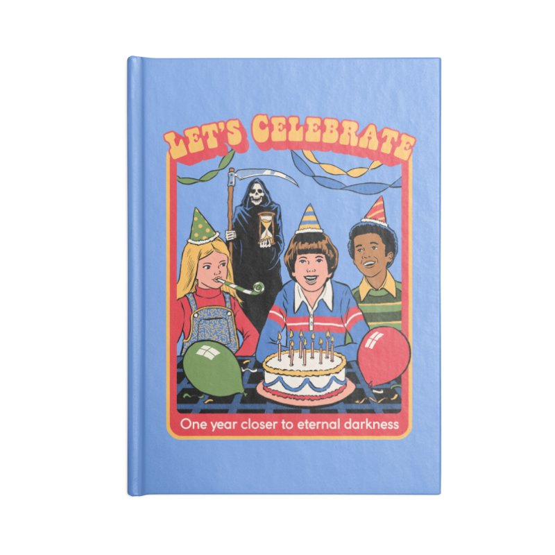 One Year Closer Accessories Lined Journal Notebook by Steven Rhodes