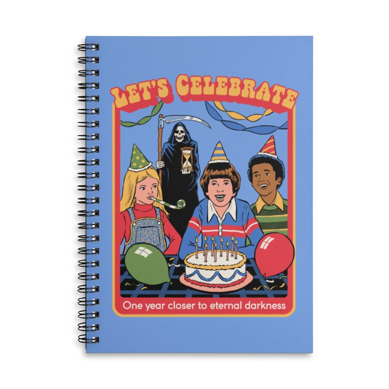 One Year Closer Accessories Lined Spiral Notebook by Steven Rhodes