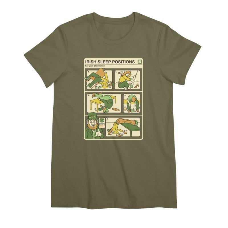 Sleep Positions Women's Premium T-Shirt by Steven Rhodes