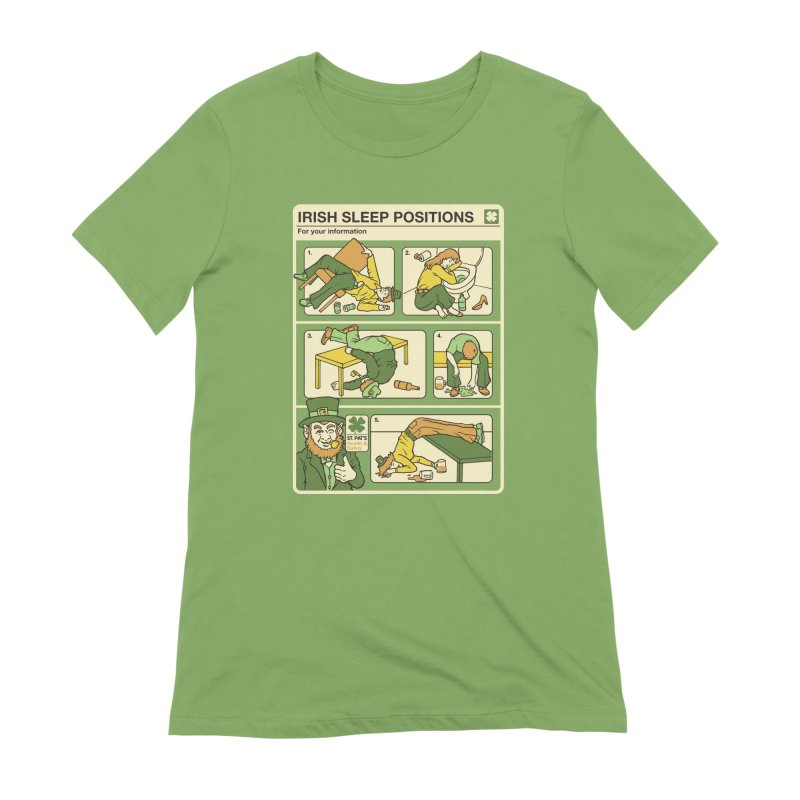 Sleep Positions Women's Extra Soft T-Shirt by Steven Rhodes