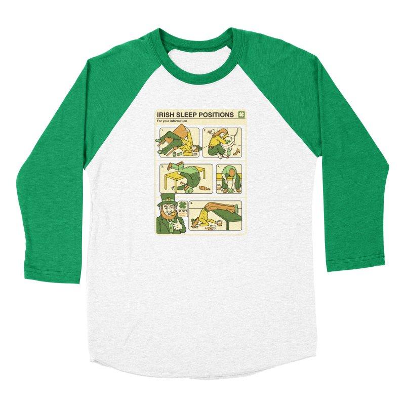 Sleep Positions Women's Baseball Triblend Longsleeve T-Shirt by Steven Rhodes