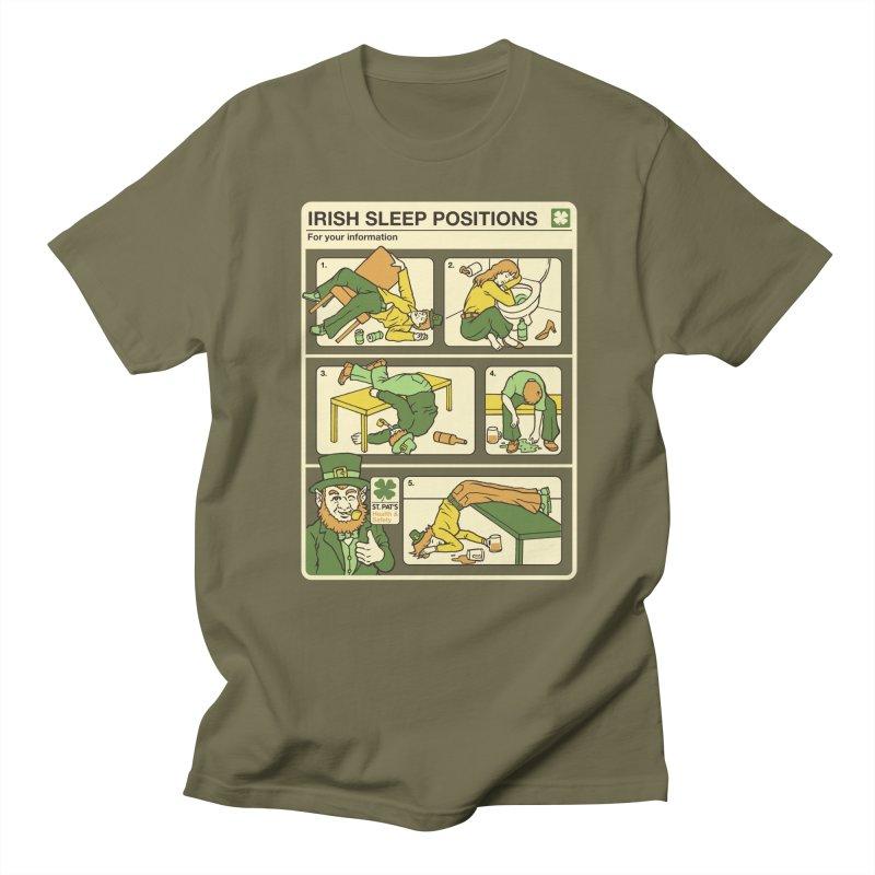 Sleep Positions Men's Regular T-Shirt by Steven Rhodes