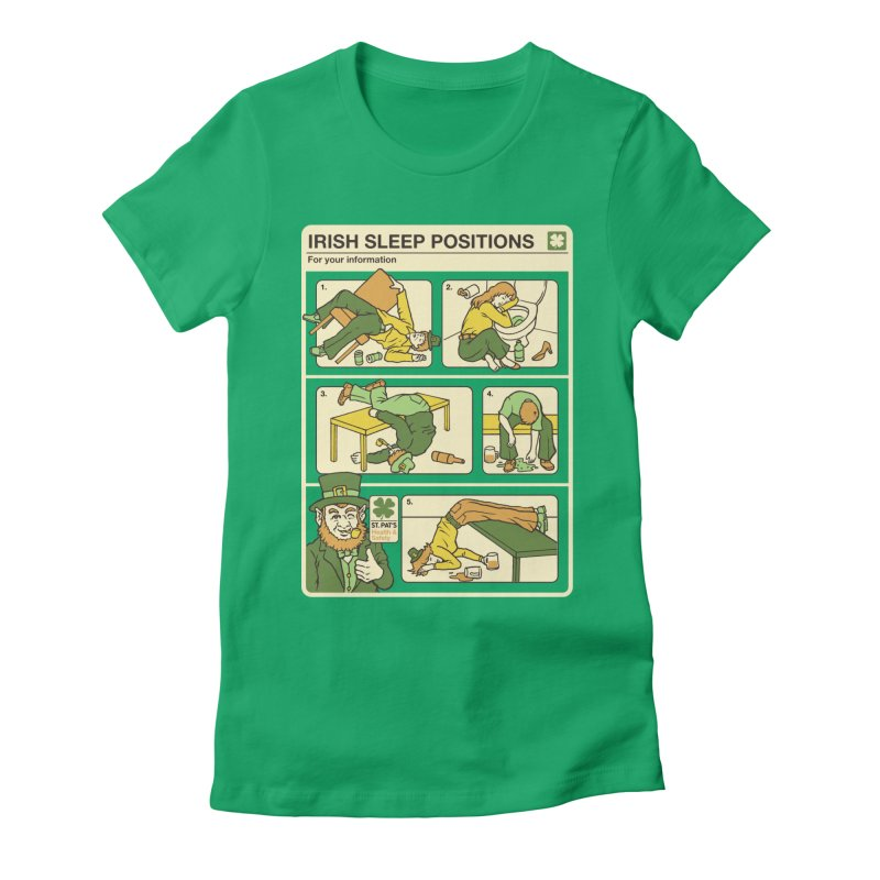 Sleep Positions Women's Fitted T-Shirt by Steven Rhodes