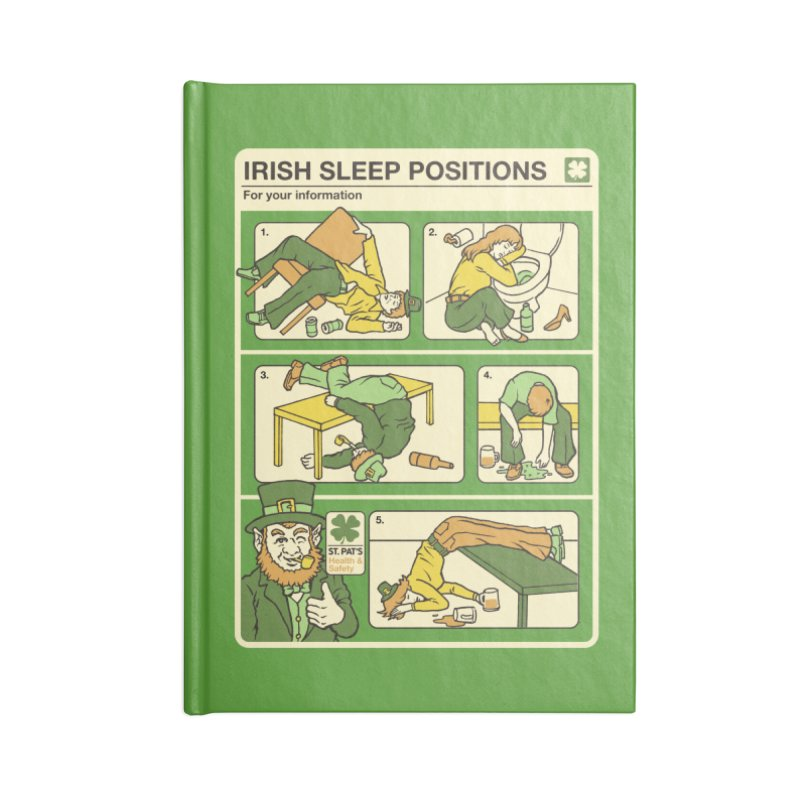 Sleep Positions Accessories Lined Journal Notebook by Steven Rhodes