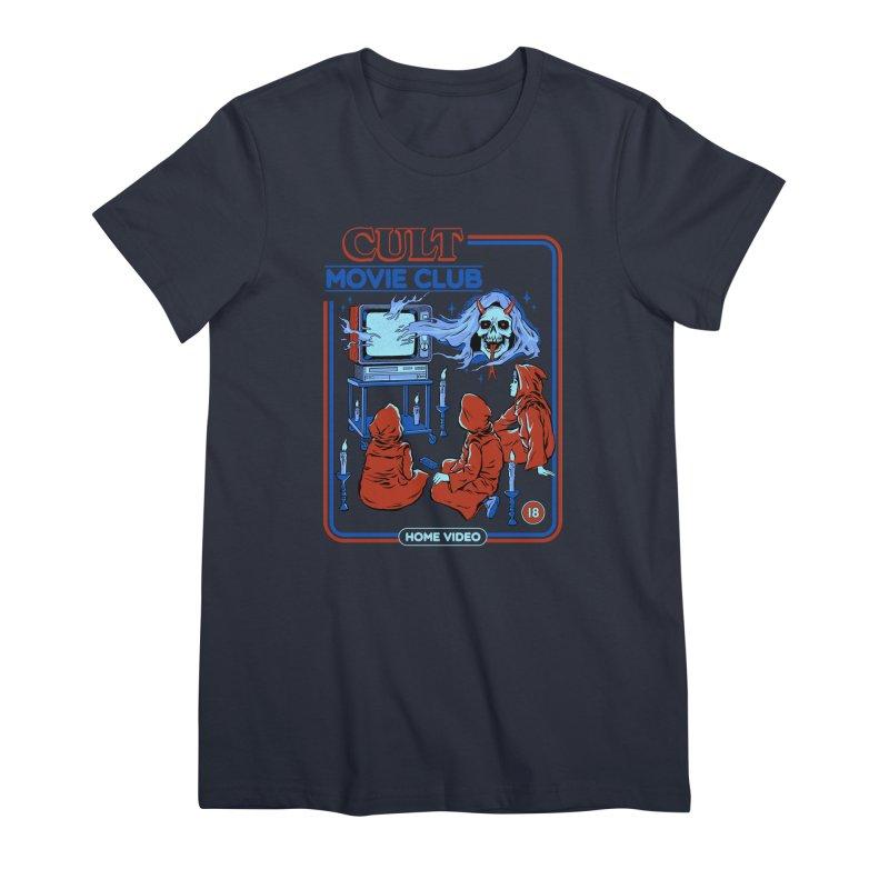 Cult Movie Club Women's Premium T-Shirt by Steven Rhodes
