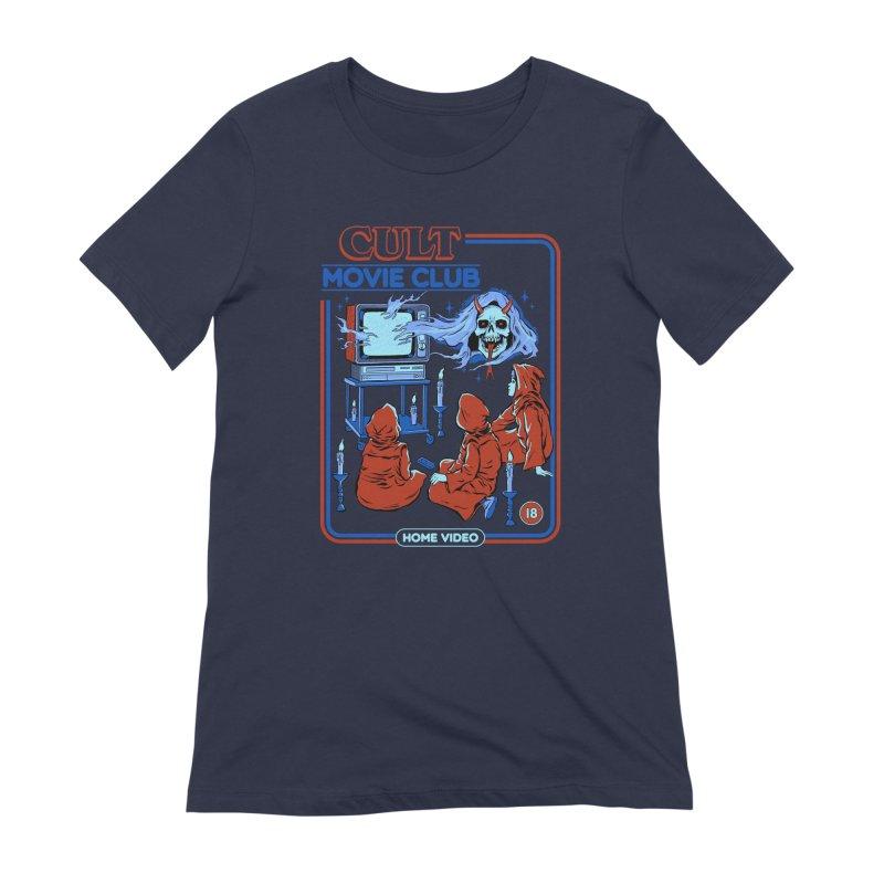 Cult Movie Club Women's Extra Soft T-Shirt by Steven Rhodes