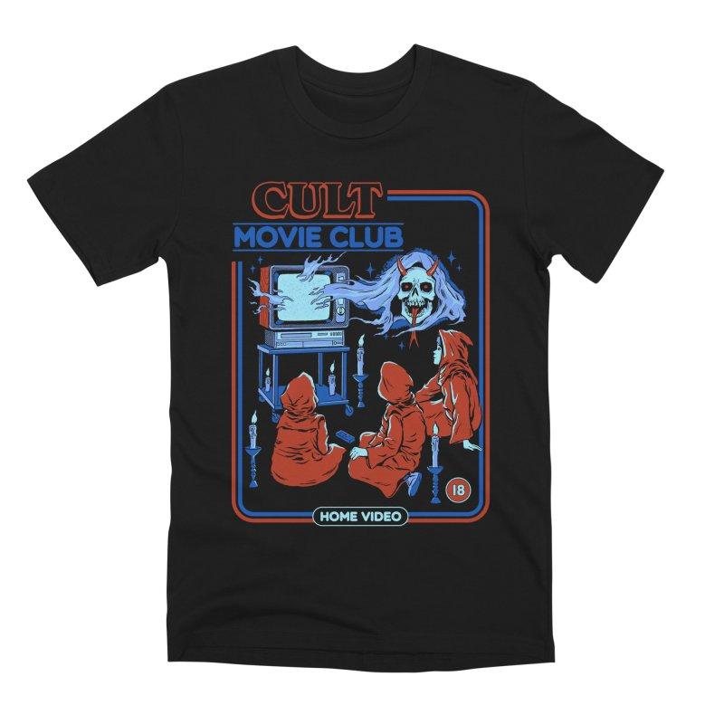 Cult Movie Club Men's Premium T-Shirt by Steven Rhodes
