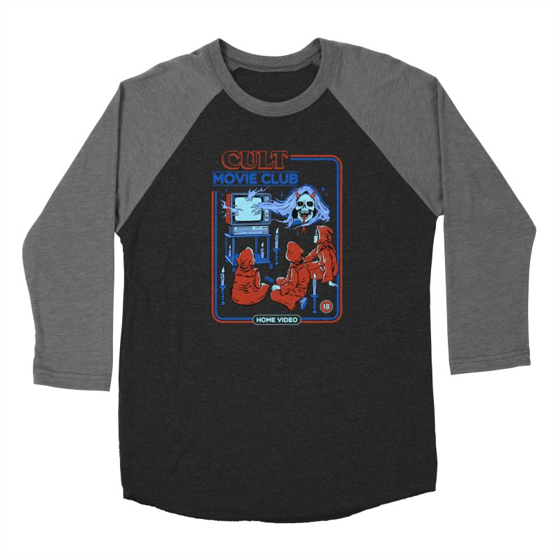 Cult Movie Club Women's Baseball Triblend Longsleeve T-Shirt by Steven Rhodes