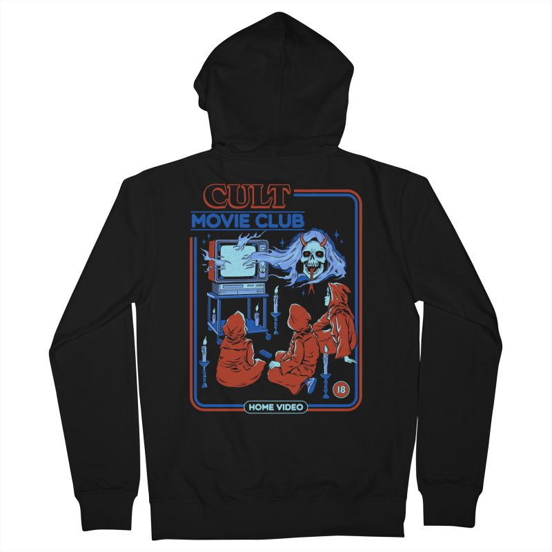 Cult Movie Club Men's French Terry Zip-Up Hoody by Steven Rhodes