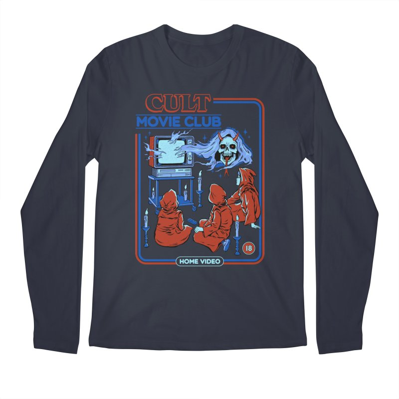 Cult Movie Club Men's Regular Longsleeve T-Shirt by Steven Rhodes