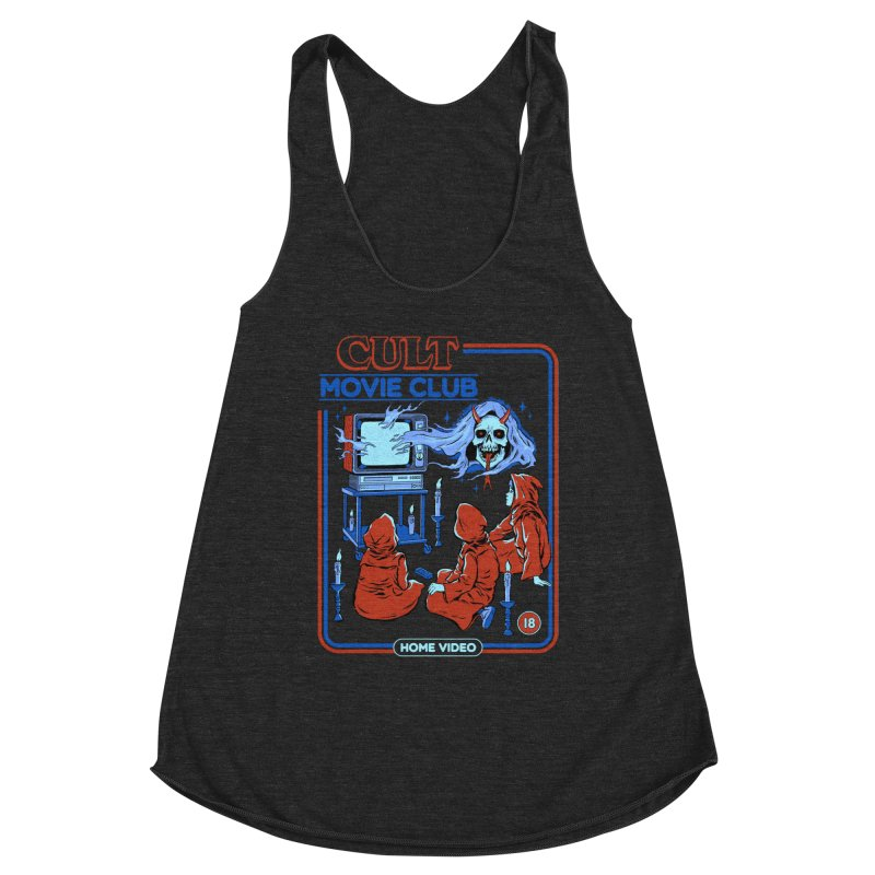 Cult Movie Club Women's Racerback Triblend Tank by Steven Rhodes