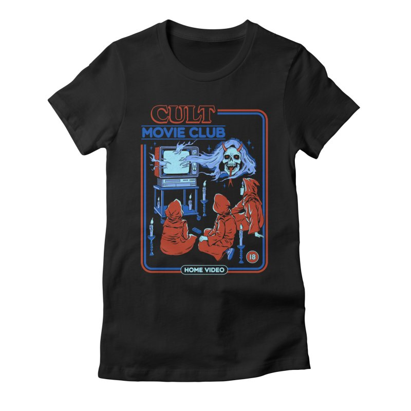 Cult Movie Club Women's Fitted T-Shirt by Steven Rhodes