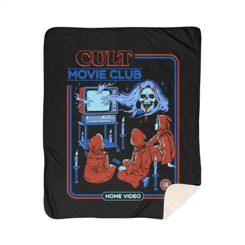 Cult Movie Club Home Sherpa Blanket Blanket by Steven Rhodes