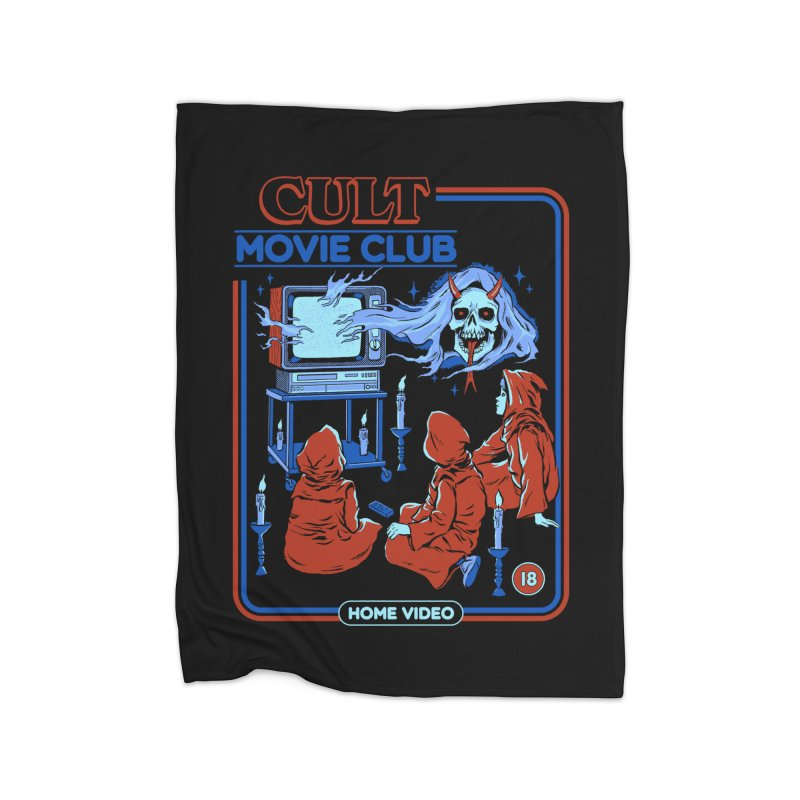 Cult Movie Club Home Fleece Blanket Blanket by Steven Rhodes