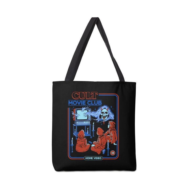 Cult Movie Club Accessories Tote Bag Bag by Steven Rhodes